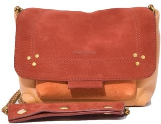 Jerome Dreyfuss Lulu Small Bag in Caviar Tabac