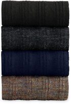 Johnston & Murphy Wool Ribbed Over-The-Calf Socks