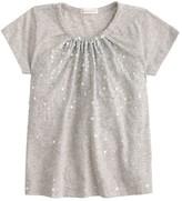 J.Crew Girls' gathered sequin T-shirt