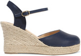 Eight Leather wedge espadrille sandals