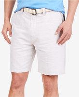 Nautica Men's Flat-Front Linen Deck Shorts