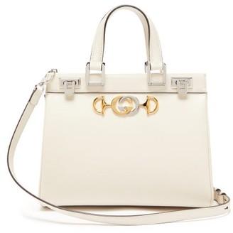 Gucci Zumi Small Top-handle Leather Handbag - White