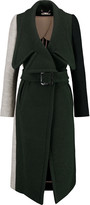 Chloé Color-block wool-blend coat