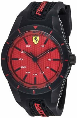 Ferrari Men's 0830248 REDREV Analog Display Japanese Quartz Black Watch