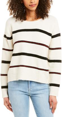 Frame Slouchy Stripe Wool & Alpaca-Blend Top
