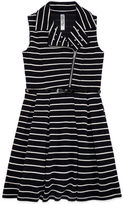 Knitworks Knit Works Belted Stripe Moto Jacket Dress - Girls' 7-16