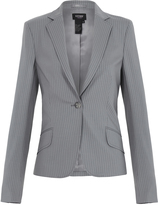 Oxford Pinstripe Suit Jacket Grey X