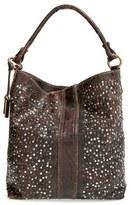 Frye 'Deborah' Studded Shoulder Bag - Brown