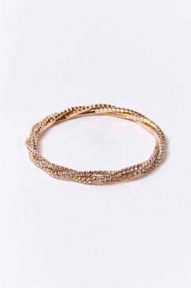 Forever 21 Twisted Rhinestone Bracelet
