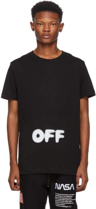 Off-White Black Kidmograph Slim T-Shirt