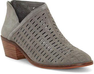 Vince Camuto Women's Casual boots GRAYSTONE - Gray Pekkan Cutout Suede Bootie - Women