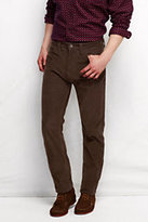 Classic Men's Pre-hemmed 14-wale Corduroy 5-pocket Straight Jeans-Graybird Stripe
