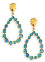 Gurhan Amulet Hue Opal & 24K Yellow Gold Drop Earrings