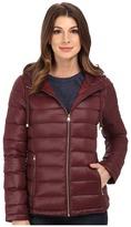 Calvin Klein Short Packable Down Coat w/ Horizontal Quilt Pattern Women's Coat