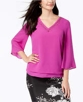 Thalia Sodi Ring-Hardware Flare-Sleeve Top, Created for Macy's