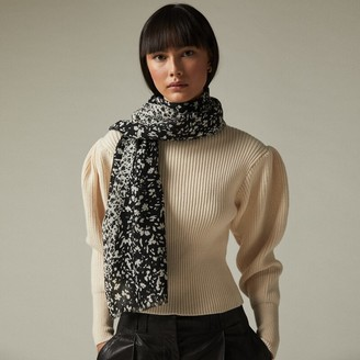 Love & Lore Love And Lore Ditsy Floral Scarf Black