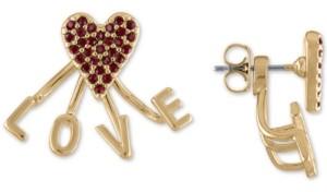 Rachel Roy Gold-Tone Stone Love Floater Stud Earrings