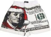 Fun Boxers - Mens Big Ben Santa Boxer Shorts, Tan 34789