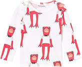 Mini Rodini Long Sleeve Frog Tee In Cerise