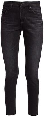AG Jeans Farah High-Rise Raw-Hem Ankle Skinny Jeans
