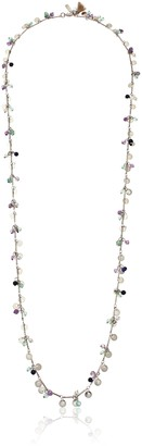 "lonna & lilly Classics"" Gold-Tone/Blue Multi-Shaky Strand Necklace 38"""