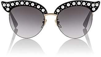 Gucci Women's GG0212S Sunglasses - Black W, pearl