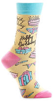 Yo Sox Allover Happy Birthday Pattern Crew Socks