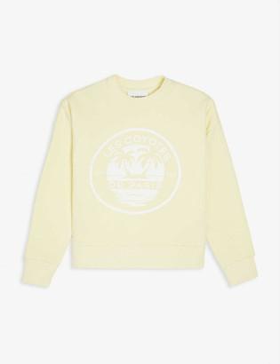 LES COYOTES DE PARIS Fenna palm tree print cotton-blend sweatshirt 8-18 years