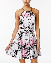 Speechless Juniors' Floral-Print Asymmetrical Tier Dress