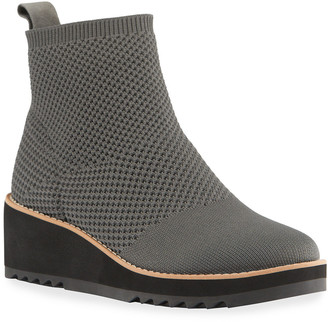 Eileen Fisher London Knit Wedge Booties
