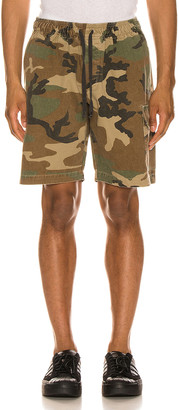 John Elliott Utility Cargo Shorts in Camo   FWRD