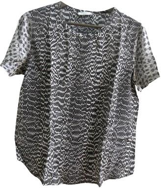 Equipment Grey Silk Top for Women