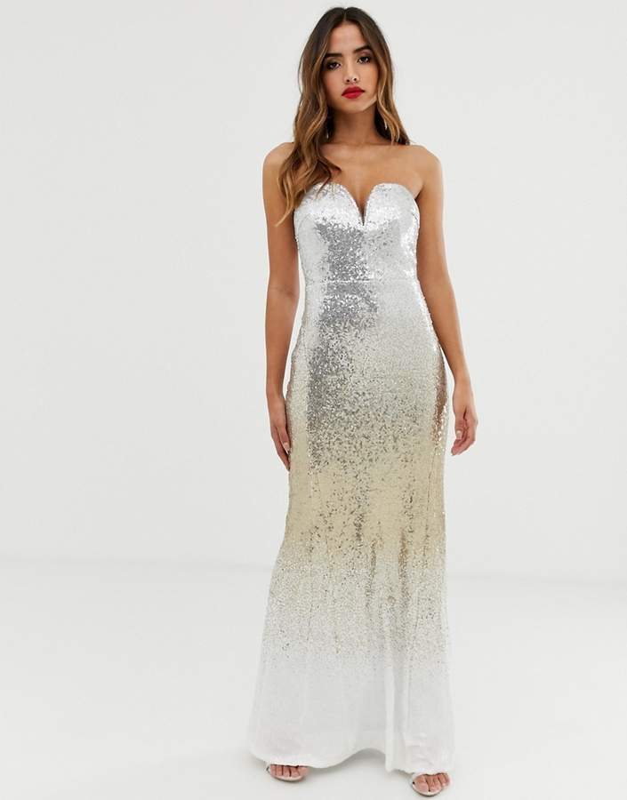 907a99d27e750 Sweetheart Bandeau Maxi Dress - ShopStyle UK
