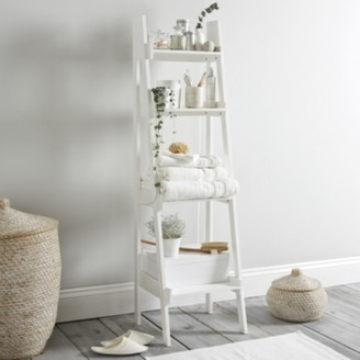 The White Company Bathroom Lacquer Ladder Shelf, White, One Size