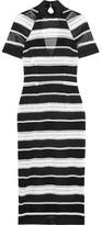 Rebecca Vallance Testa Open-back Guipure Lace Dress - Black