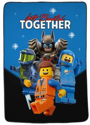 Lego The Movie 2 Plush Blanket, Kids Bedding, 62?x90?, Let's Build Together