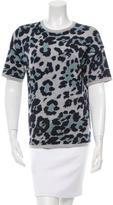 Derek Lam Leopard Patterned Knit Top