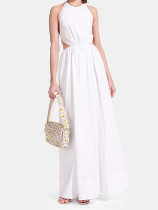 STAUD Apfel Halter Maxi Dress