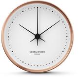 Georg Jensen Henning Koppel Clock - Copper/White - 15cm