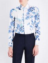 Etro Floral-patterned slim-fit cotton shirt