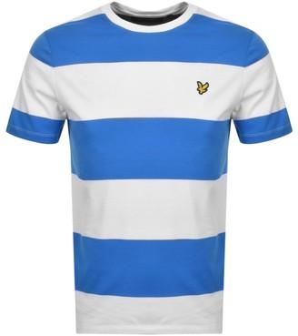 Lyle & Scott Wide Stripe T Shirt Blue