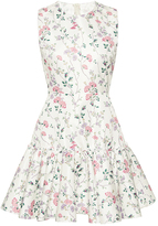 Giambattista Valli Floral Print Trumpet Mini Dress