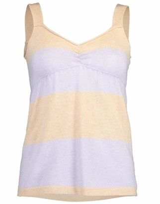 Brunello Cucinelli Striped Cashmere Empire Camisole