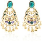 Oscar de la Renta Crystal Filigree C Earring
