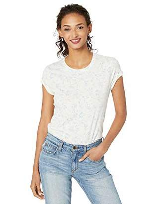 Lucky Brand Women's Floral Basic Scoop Neck TEE