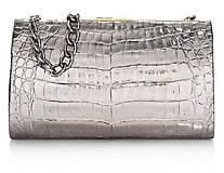 Nancy Gonzalez Women's Colette Metallic Crocodile Frame Clutch
