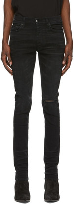 Amiri Black Slit Knee Jeans