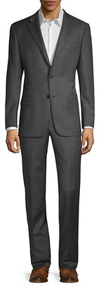Hickey Freeman Classic-Fit Milburn IMM Series Wool Suit