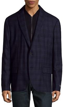 Saks Fifth Avenue Plaid Wool Sportcoat