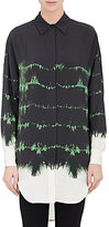 Stella McCartney WOMEN'S TIE-DYED WASHED-SILK SHIRTDRESS-GREEN SIZE 38 IT